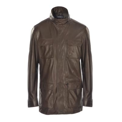 Fratelli Rossetti-Safari leather jacket