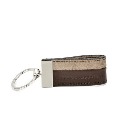 Fratelli Rossetti-Suede and leather keychain